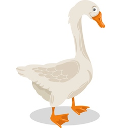 Goose farm bird cartoon vector