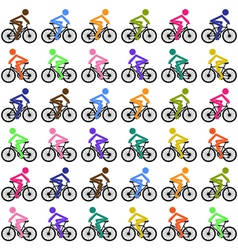 Cycling background vector image