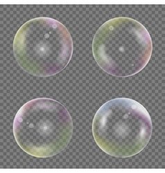 Soap bubble set vector