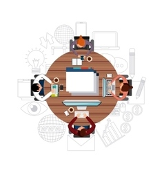 Cartoon and gadget icon blog concept vector