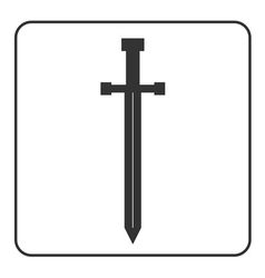 Medieval sword icon silhouette isolated vector