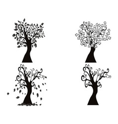 black season tree vector image vector image