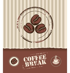 coffee board vector image vector image