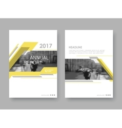 Cover design annual report vector