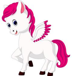 Cute unicorn cartoon vector