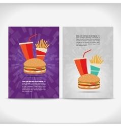 Fast food leaflet design vector image vector image