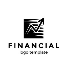 financial logo design template good progress of vector image