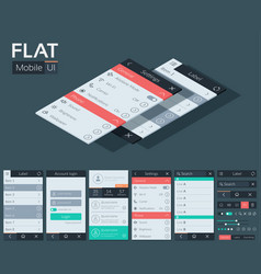 flat user interface mobile design concept vector image