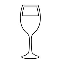 Glass of wine black color icon vector