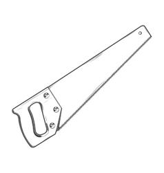 Handsaw vector image