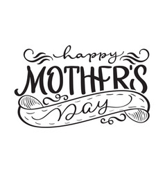 happy mothers day black modern text vector image