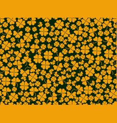 happy st patricks clover seamless pattern vector image