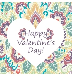 Happy Valentines Day congratulations card vector image