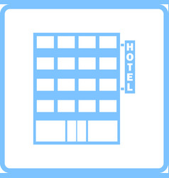 Hotel building icon vector