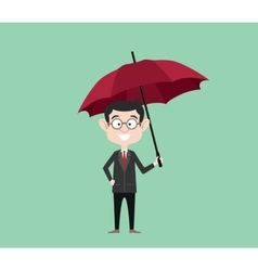 insurance concept sign symbol with businessman vector image vector image