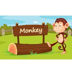 Monkey in a zoo vector