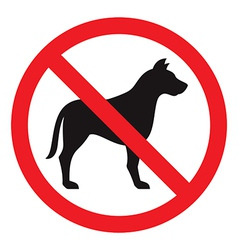 No dog sign vector