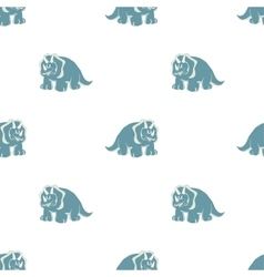 On white background blue dinosaurs vector