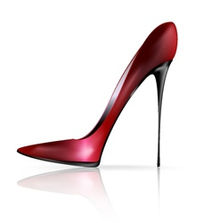 red black shoe vector image