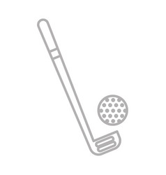 Shadow golf club and ball vector