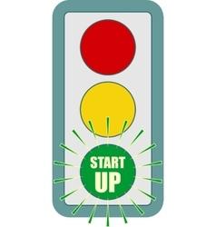 Traffic lights symbol flashing green vector