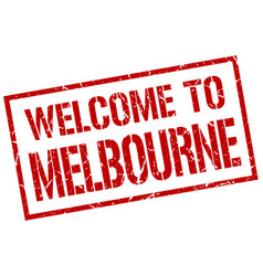 Welcome to melbourne stamp vector