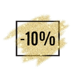 10 percent off discount promotion tag vector