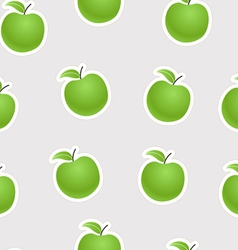 Green apples seamless background vector