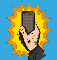 Phone in the hand vector image