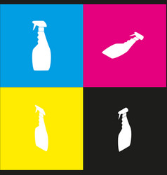 Plastic bottle for cleaning  white icon vector