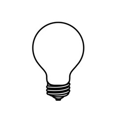 Sketch silhouette image light bulb off icon vector