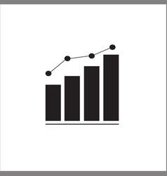 Graph bar graph icon vector