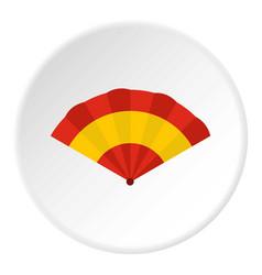 fan icon circle vector image
