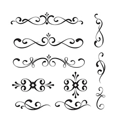 Decorative elements and ornaments vector