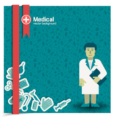 Doctor and treatment background vector