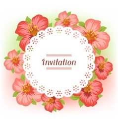 Design of invitation card with pretty stylized vector