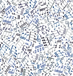 Seamless aged musical notes background vector