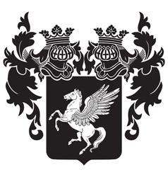 Heraldic silhouette no32 vector