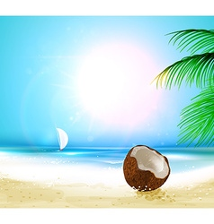 Summer beach wallpaper vector
