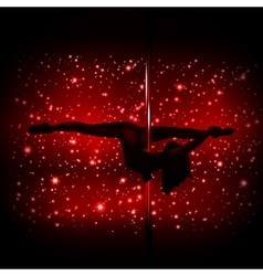 Sexy silhouette of a female stripper vector