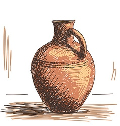 Ceramic jug vector