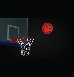 Basketball basket and ball vector