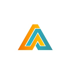 business logo shape technology company vector image