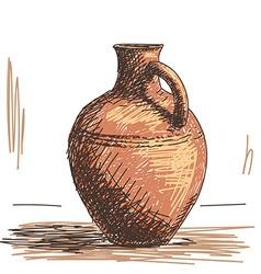 Ceramic jug vector