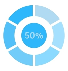 Circle loading 50 percent icon flat style vector