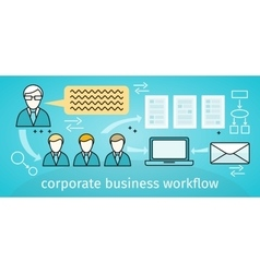 Corporate business workflow banner vector