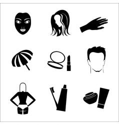 Cosmetic Icon Set vector image