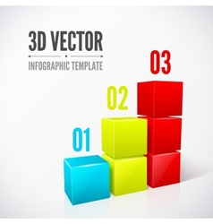 Cubes 3D infographics modern design layout vector image vector image