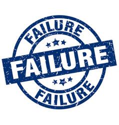 Failure blue round grunge stamp vector