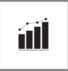 graph bar graph icon vector image vector image